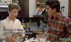 Sixteen Candles - Anthony Michael Hall as The Geek 80s Movie Quotes, Romantic Movie Quotes, Favorite Movie Quotes, 80s Movies, Film Quotes, Good Movies, Sad Quotes, Indie Movies, Action Movies
