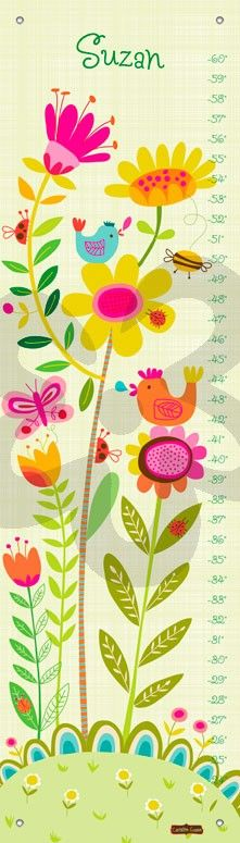 Oopsy daisy Canvas Growth Charts (can be personalized!) - so cute! http://www.oopsydaisy.com