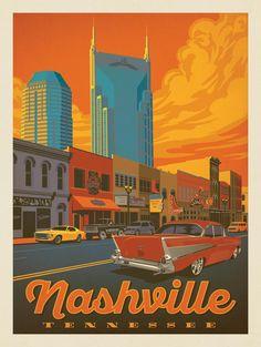 Anderson Design Group – American Travel – Nashville: Broadway Sunset