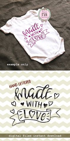 Made with love, cute fun newborn new baby shower gift idea digital cut files, SVG, DXF, studio3 for cricut, silhouette cameo, diy decals