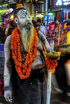 Holy man in Varanasi. Varanasi is one of the most spiritual and most fascinating places to visit in India. See all my tips in my Varanasi Travel Guide.