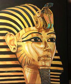 Brad Piatka Original Acrylic Painting on Canvas King Tutankhamun