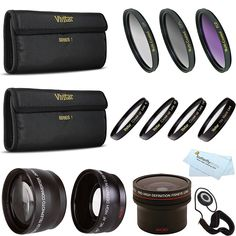 Fisheye Lens Kit For CANON VIXIA HF R82 HF R80 HF R800, HF R700, HF R72, HF R70 Camcorder Includes 0.16x Fisheye lens   Wide Angle Lens   2x Telephoto Lens   3PC Filter Kit   Close Up Kit  1  2  4  10 * You can find out more details at the link of the image.
