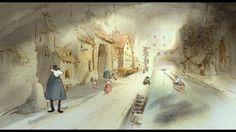 Trailer for Ernest & Celestine animation. Ernest Et Celestine, Matte Painting, Animation Film, Color Theory, Illustration Art, Vintage Illustrations, Artist, Artwork, Colors