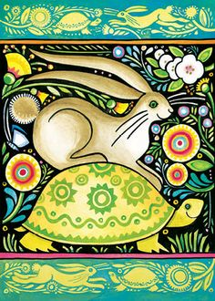 Julie Paschkis Just thinking of you gives me a lift! Tortoise and Hare Turtle and Rabbit Art And Illustration, Illustrations, Greeting Card Box, Street Art, Rabbit Art, Bunny Art, Art For Art Sake, Tortoise, Painted Rocks