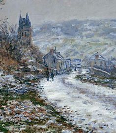 Claude Monet ~ Entrance to the Village of Vétheuil in Winter, 1879