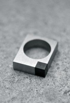 Alexey Cherkasov | Titanium Minimalist Square Ring