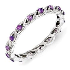Sterling Silver Mothers Amethyst Gemstone Stackable Eternity Ring Available Exclusively at Gemologica.com Valentine's Day 2015 Jewelry Gift Ideas for Him, Her and Kids. Gemologica has the perfect homemade and creative gifts for your boyfriend, girlfriend and for couples including rings, earrings, bracelets, necklaces and pendants. Shop now for special savings at https://www.gemologica.com Gift Guide Located at https://www.gemologica.com/jewelry-gift-guide-c-82.html