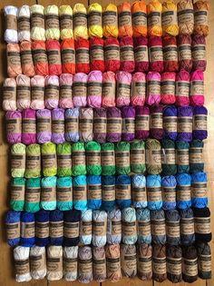 "Scheepjes ""Colour Pack"", 109 x ""Catona"" - Tausendschön Crochet Stitches Free, Crochet Hooks, Embroidery Stitches, Knit Crochet, Knitting Yarn, Knitting Patterns, Crochet Patterns, Easy Yarn Crafts, Yarn Inspiration"