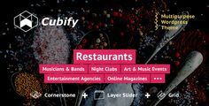 CubifyTheme is a multipurpose theme specially designed for entertainment industry. It is one of its kind theme on web. Modern, stunning, eye-catching design attracts attention immedi...
