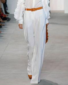 MICHAEL KORS LINEN PALAZZO TROUSERS, WHITE. #michaelkors #cloth #