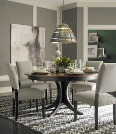 Round Pedestal Table Design Ideas, Pictures, Remodel and Decor