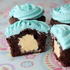 Ice Cream Filled Cupcakes....best idea ever!