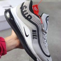 Nike Air Max Zapatos Hombre Tela De Color Negro A Rayas