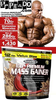 MUSCLETECH: 100% PREMIUM MASS GAINER (12 Lbs). *Descripciones y precio en este enlace: http://papeado.com/tienda/ganadores-de-masa/236-100-premium-mass-gainer-12-libras-muscletech.html