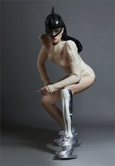Viktoria Modesta wearing Zaha Hadid x United Nude Nova Shoes - Vogue.it