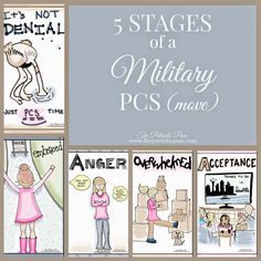5 Stages of Military PCS Move #cartoon #sketchbook #doodling