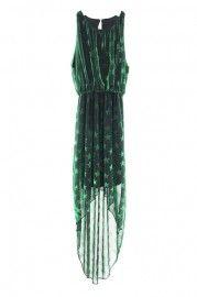 Anomalous Lower Stars Print Green Dress  $53.99  romwe.com #Romwe