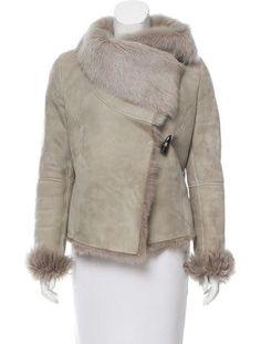 AllSaints Suede Shearling-Trimmed Jacket
