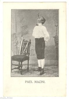 Sword Swallower Paul Mancini, circa 1904 Photo used by permission of  Sword Swallowers Association International (SSAI) Sword Swallower's Hall of Fame  http://www.swordswallow.com