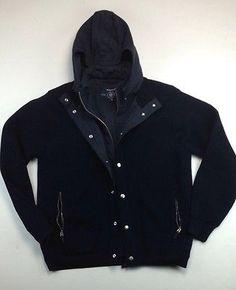 Mens Gant Jacket Size Sz M Medium Blue Sweater Very Nice Authentic Hoodie | eBay