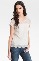 AG Jeans Vintage Lace Tee