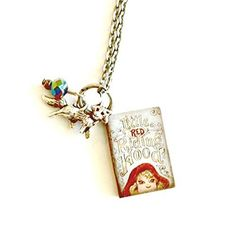Little Red Riding Hood Mini Book Necklace with Wolf Handmade Gift by Aunt Matilda * Details can be found by clicking on the image.Note:It is affiliate link to Amazon.