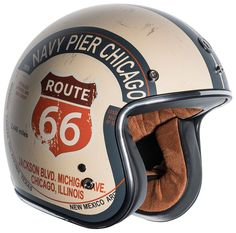 Capacete TORC Gráfico fresco da rota 66 - Cars and motorcycles - Motos Retro Motorcycle Helmets, Racing Helmets, Motorcycle Gear, Women Motorcycle, Cool Motorcycles, Vintage Motorcycles, Route 66, Vega Helmets, Illinois