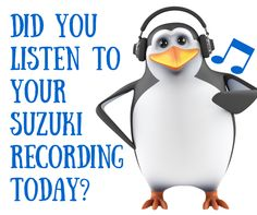 Suzuki Violin: Listening to the Suzuki recording daily is a cornerstone of success with this philosophy.
