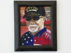 Acrylic Painting - Veteran's Portrait - www.harrisartstudio.com