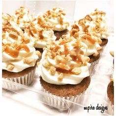 Salty and sweet and everything in between! #cupcakes #minicupcakes #mini #bitesize #treats #seasalt #caramel #carrot #creamcheeseicing #peanutbutterchips #peanutbutter #icing #weddings #events #corporate #socialevents #babyshower #bridalshower #anniversary #girlsnight #bachelorette #cupcakelady #cake #cakeboss #cupcakeblog #torontoblog #toronto #blog #danforth #mpiredesigns