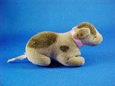 Charming Antique Miniature Cloth Velvet Dog by AmericanaAntiques, $150.00