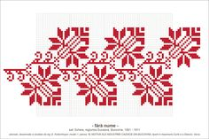Semne Cusute: Romanian traditional motifs Types Of Embroidery, Folk Embroidery, Embroidery Patterns Free, Cross Stitch Embroidery, Cross Stitch Art, Cross Stitch Borders, Cross Stitch Patterns, Blackwork Patterns, Art Textile