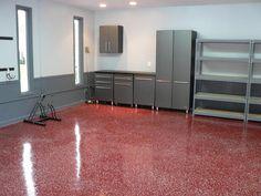 Concrete Garage Floor Epoxy Coatings, Metro Atlanta Georgia, Garage Options, from Amazing Improvements, LLC Garage Floor Paint, Garage Flooring, Epoxy Floor Basement, Beton Garage, Garage Boden, Concrete Garages, Concrete Coatings, Acid Stain, Epoxy Coating