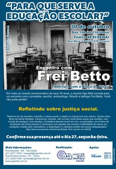 """Comunicado 1 """"Encontro com Frei Betto"""" - out.2009"""