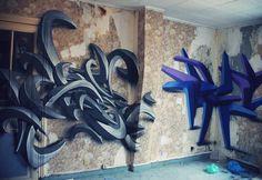 Bellevilleu Firche Paris Graffiti Art