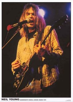 Neil Young Hammersmith Odeon London 1976 Poster 24x33