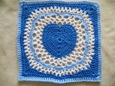 Hearts & Shells Afghan Block Motif By Sherry Welch - Free Crochet Pattern - (ravelry)