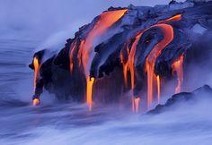 Kilauea volcano in Hawaii.