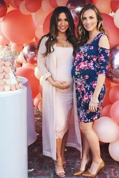 Celebrated this sweet mama-to-be, today at her baby shower. Love being able to share this pregnancy journey with her and our sweet girlfriend I see many, many more mama group texts and baby girl play dates in our future. Love you girls! Maternity Dresses For Baby Shower, Cute Maternity Outfits, Stylish Maternity, Pregnancy Outfits, Pink Blush Maternity, Mom Outfits, Maternity Wear, Maternity Fashion, Baby Dress