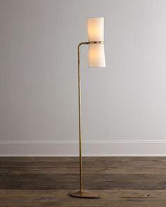 AERIN Clarkson Brass Floor Lamp $750.00  Online Inquiries: HCF17_H723X