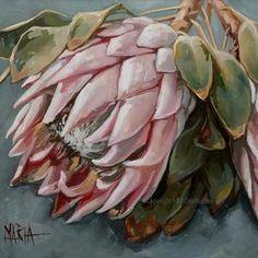 Protea Art, Australian Native Flowers, Acrylic Art, Botanical Art, Fabric Painting, Beautiful Artwork, Flower Decorations, Printable Art, Printables