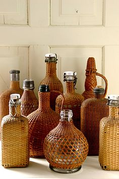 Welcome to Matthew Mead Productions, Inc.....wicker covered bottles