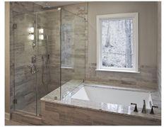 Bathtub Shower Combo, Bathroom Tub Shower, Bathroom Red, Bathroom Flooring, Bathroom Ideas, Bathtub Ideas, Bathroom Organization, Master Bathrooms, Bathroom Designs
