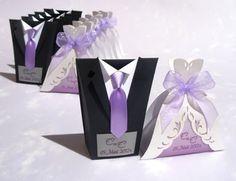 Bridal Wedding Favors Candy Boxes Tuxedo Candy by SarayaWedding                                                                                                                                                                                 Mais