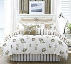 Yazlık yatak odası dekorasyonunda kum rengi