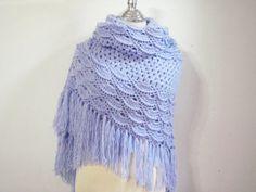 Lilac & irish crochet shawl by NRWhandmade on Etsy, $65.00