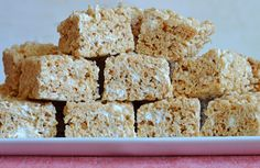 (TESTED & PERFECTED RECIPE) Made with brown butter, vanilla, salt, and the perfect amount of marshmallows, these are the BEST Rice Krispie Treats.