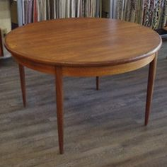 Mid century teak round dining table with butterfly leaf by G Plan | Vintage Home Boutique