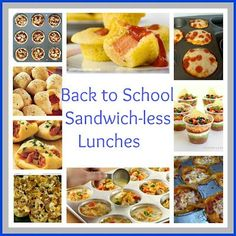 Some great lunch ideas. many can be prepared and frozen.  Great for toddler lunches or snacks at home as well as school/on the go meals. Also link to on go breakfast ... Great post